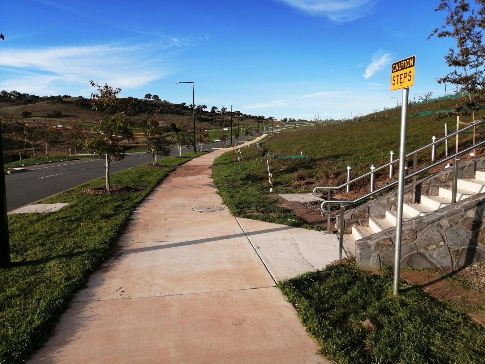 Sculthorpe Avenue, close to Shillam Chase, Whitlam, ACT