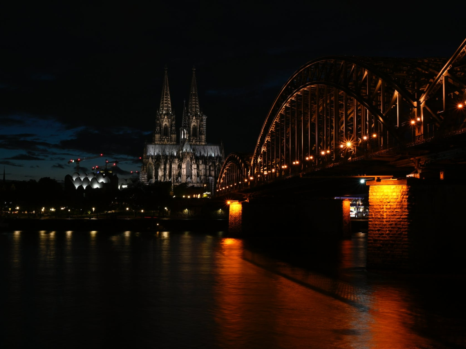 Cologne Dom behind the Rhein River, North Rhine-Westphalia, Germany