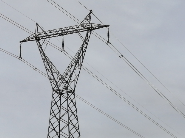 132kV power lines close to Coppins Crossing, Molonglo Valley, 28 March 2021