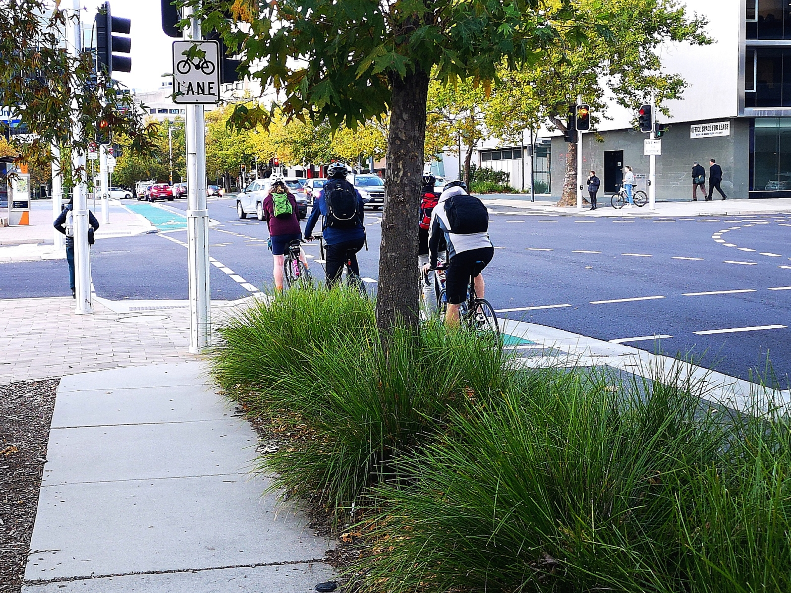 Civic cycle path