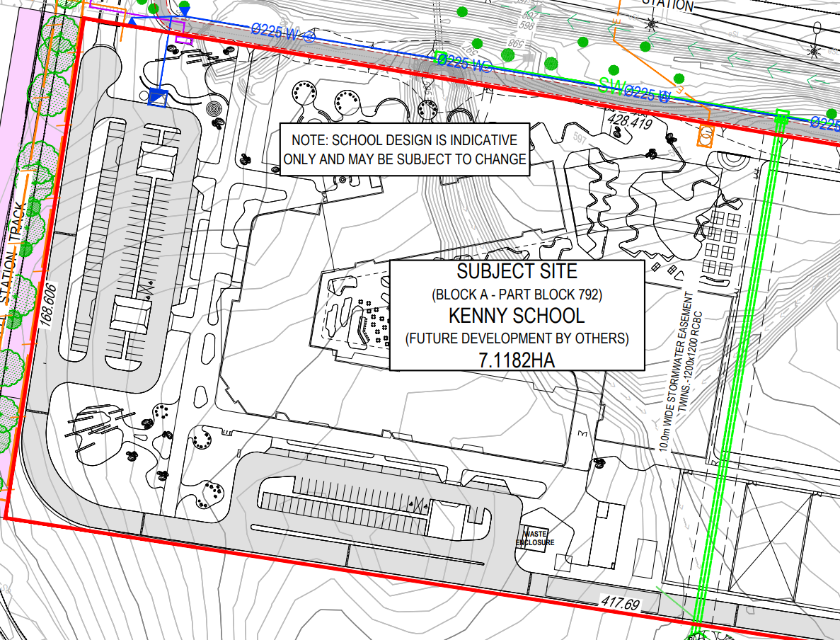 Kenny School EDP 50520069-EDP-100, school area without oval