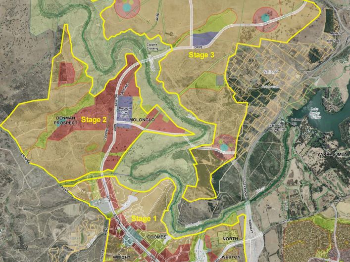 Molonglo Valley Stage Plan, ACT Government 2012.