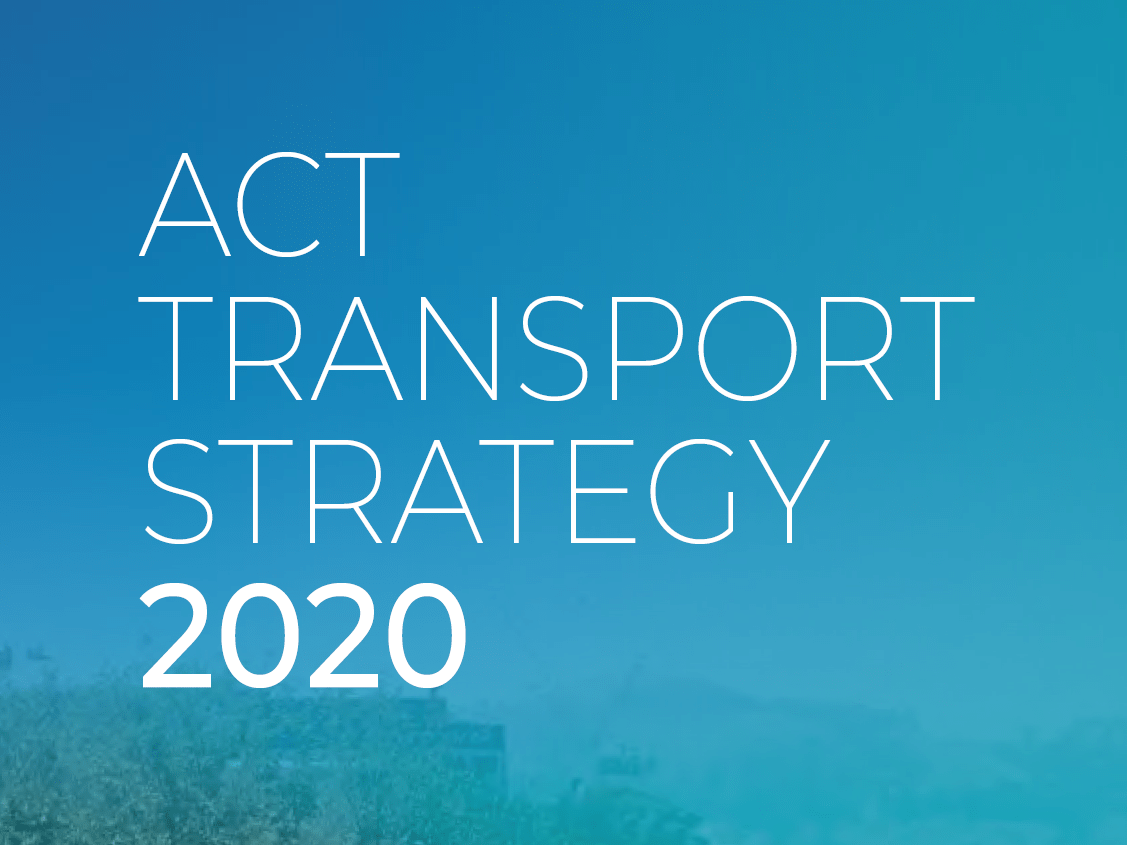 ACT Transport Strategy 2020 cover