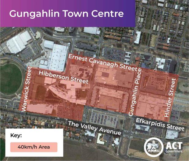 Gungahlin 40 km/h zone