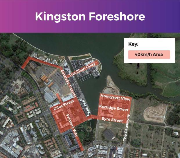 Kingston Foreshore 40 km/h zone