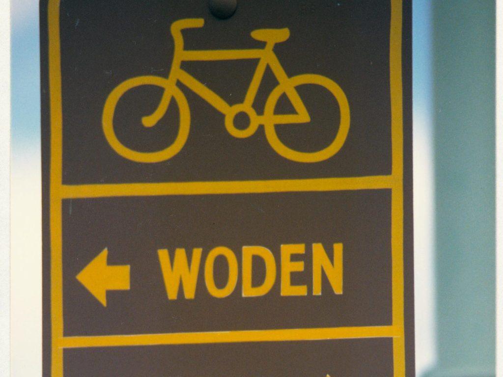 Signage at Yarra Glen crossing. c1989