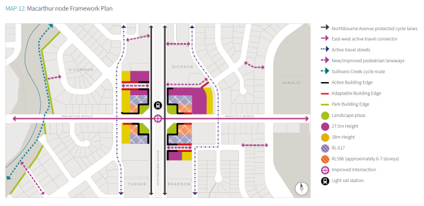 Map 12 Macarthur node Framework Plan. City And Gateway Urban Design Framework, December 2018