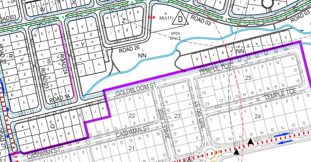 Cycle Priority Street, Goldbloom Street, 2014 Denman Prospect Stage 1A and 1B Estate Development Plan (EDP) plan September 2014