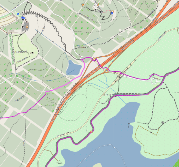 Molonglo 3 East, eastern exit. canberra.bike, 31 August 2021. Map: VeloMap, OpenStreetMap and contributors.