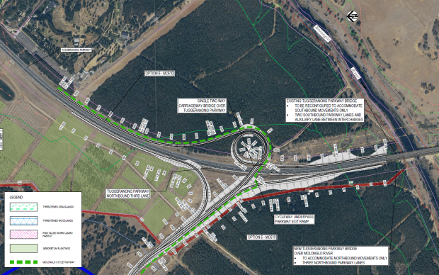 East West Arterial / Tuggeranong Parkway intersection, SMEC, 2021.
